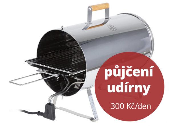Půjčení Muurikka udírny & elektrického grilu – Smoker ORIGINAL 1100 W – 300 Kč/den