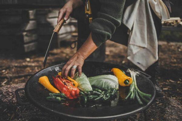 Muurikka grilovací pánev s nožkami